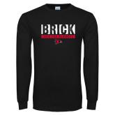 Bookstore Black Long Sleeve T Shirt-Brick 2018 FCS Playoffs