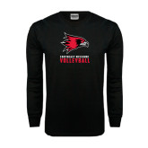 Black Long Sleeve TShirt-Volleyball