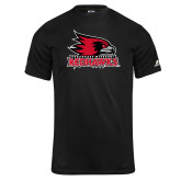 Bookstore Russell Core Performance Black Tee-Primary Logo