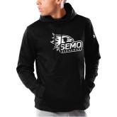 Bookstore Under Armour Black Armour Fleece Hoodie-SEMO Logo with Redhawks