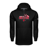 Under Armour Black Performance Sweats Team Hood-Soccer Swoosh