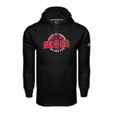 Under Armour Black Performance Sweats Team Hood-Soccer Design