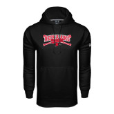 Under Armour Black Performance Sweats Team Hoodie-Baseball Bats