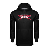 Under Armour Black Performance Sweats Team Hoodie-Baseball Crossed Bats