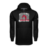Under Armour Black Performance Sweats Team Hood-Redhawk Gymnastics Backflip