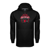 Under Armour Black Performance Sweats Team Hoodie-Graphics in Basketball