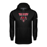 Under Armour Black Performance Sweats Team Hoodie-Graphics on Basketball