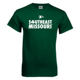 Bookstore Dark Green T Shirt-Southeast Missouri Stacked Clover