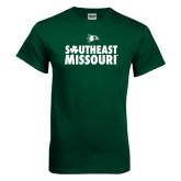 Bookstore Dark Green T Shirt-Southeast Missouri Stacked Clover