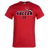 Red T Shirt-Soccer Swoosh