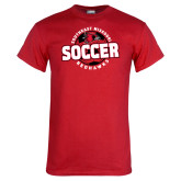 Red T Shirt-Soccer Design