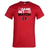 Red T Shirt-Tennis Game Set Match