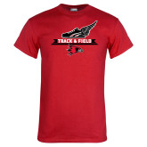 Red T Shirt-Track and Field Side Design