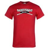 Red T Shirt-Baseball Crossed Bats