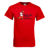 Red T Shirt-Walk For Redhawks