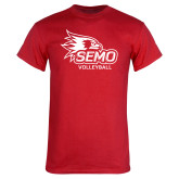 Bookstore Red T Shirt-Volleyball