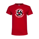 Youth Red T Shirt-Volleyball Stars Design