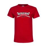 Youth Red T Shirt-Baseball Bats