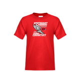 Youth Red T Shirt-Cross Country Winged Shoe