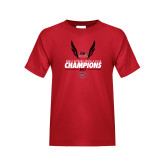 Bookstore Youth Red T Shirt-2017 OVC Mens Outdoor Track and Field Champions