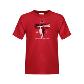 Bookstore Youth Red T Shirt-2017 OVC Mens Outdoor Track and Field Champions back to back