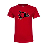Bookstore Youth Red T Shirt-Hawk Head