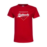 Bookstore Youth Red T Shirt-Baseball