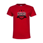 Bookstore Youth Red T Shirt-Playoffs Football Design 2018