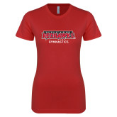 Bookstore Next Level Ladies SoftStyle Junior Fitted Red Tee-Gymnastics