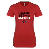 Bookstore Next Level Ladies SoftStyle Junior Fitted Red Tee-Tennis
