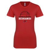 Bookstore Next Level Ladies SoftStyle Junior Fitted Red Tee-Volleyball