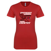 Bookstore Next Level Ladies SoftStyle Junior Fitted Red Tee-Cross Country