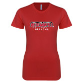 Bookstore Next Level Ladies SoftStyle Junior Fitted Red Tee-Grandma