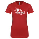 Bookstore Next Level Ladies SoftStyle Junior Fitted Red Tee-Mom