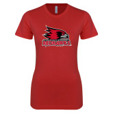 Bookstore Next Level Ladies SoftStyle Junior Fitted Red Tee-Primary Logo