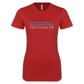 Bookstore Next Level Ladies SoftStyle Junior Fitted Red Tee-Southeast Missouri Redhawks