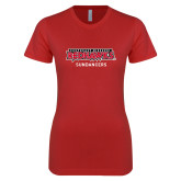 Bookstore Next Level Ladies SoftStyle Junior Fitted Red Tee-Sundancers