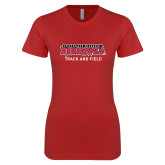 Bookstore Next Level Ladies SoftStyle Junior Fitted Red Tee-Track and Field