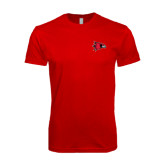 SoftStyle Red T Shirt-Redhawk Head
