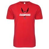 Bookstore Next Level SoftStyle Red T Shirt-2017 OVC Mens Outdoor Track and Field Champions
