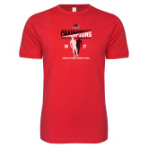 Bookstore Next Level SoftStyle Red T Shirt-2017 OVC Mens Outdoor Track and Field Champions back to back