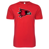 Bookstore Next Level SoftStyle Red T Shirt-Hawk Head