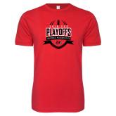 Bookstore Next Level SoftStyle Red T Shirt-Playoffs Football Design 2018