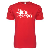 Bookstore Next Level SoftStyle Red T Shirt-SEMO Logo