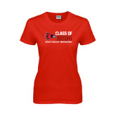 Ladies Red T Shirt-Class of Outline