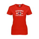 Ladies Red T Shirt-Redhawks XC