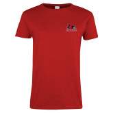 Bookstore Ladies Red T Shirt-Primary Logo