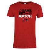 Bookstore Ladies Red T Shirt-Tennis