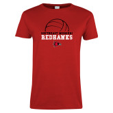 Bookstore Ladies Red T Shirt-Volleyball