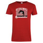 Bookstore Ladies Red T Shirt-Gymnastics